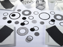 Black Circle Confetti
